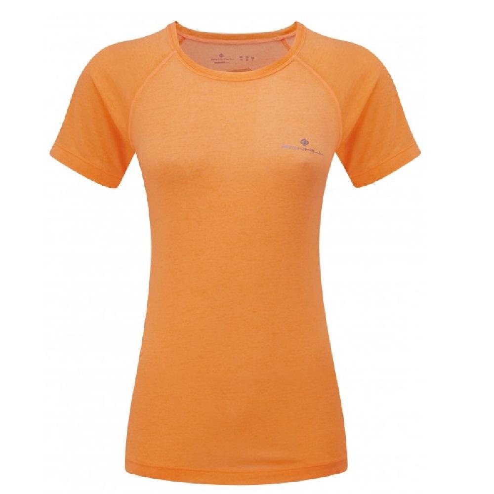 Ronhill Runnersworld Fueltbelt Neon Vest Womens Momentum Short Sleeve Tee